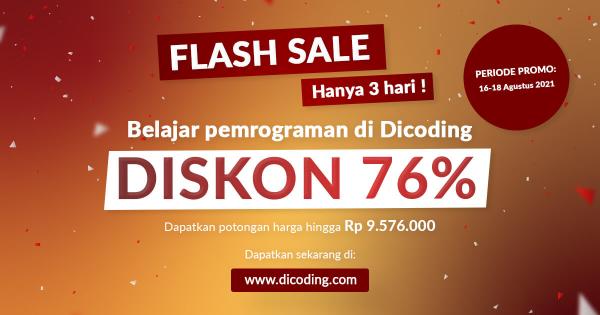 Dicoding Academy. Diskon 76%
