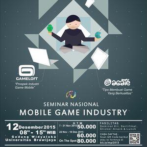 Seminar Nasional : Mobile Game Industry [HTM : 60k *]