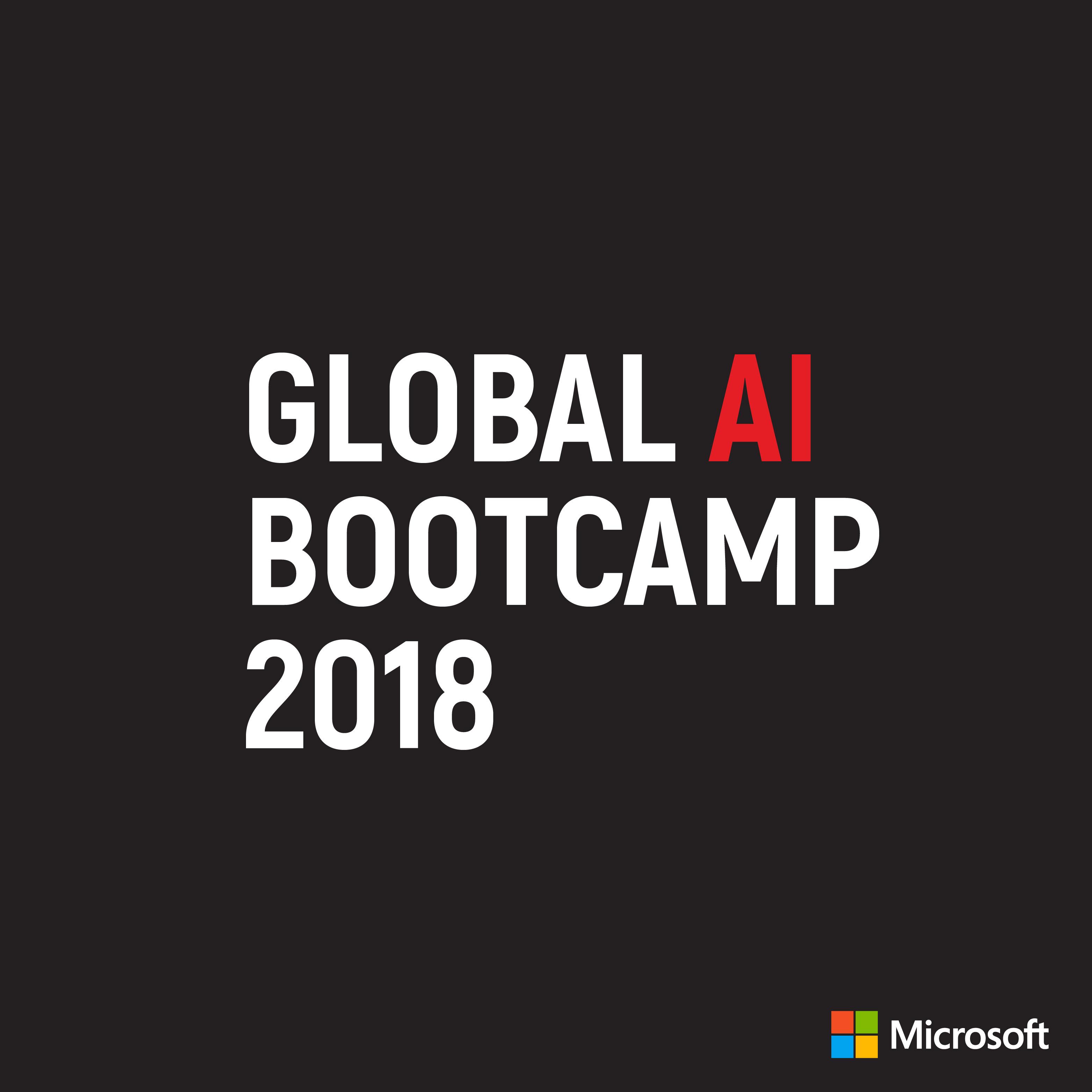 Global AI Bootcamp 2018